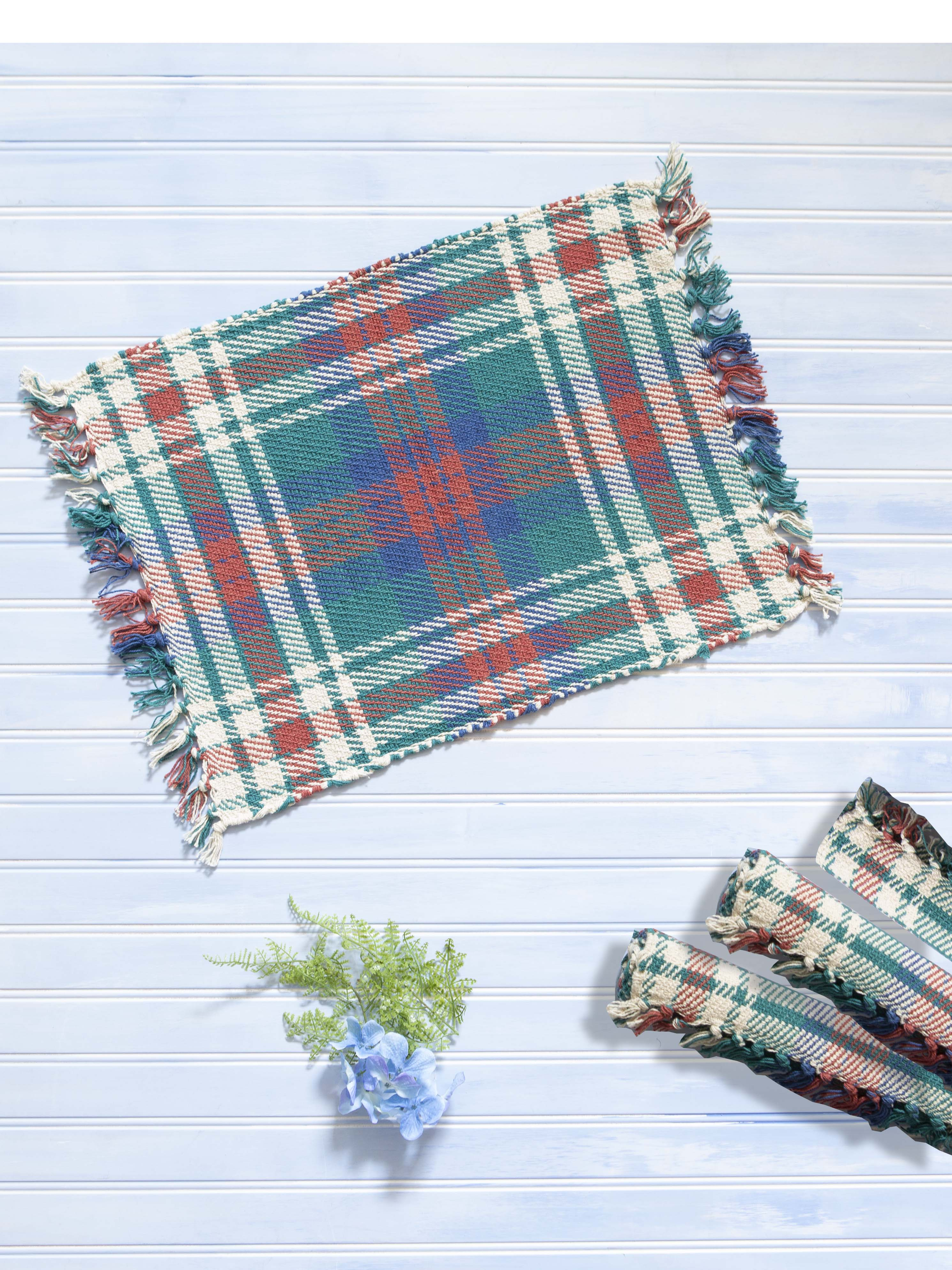 Afternoon Plaid Rib Placemat Set of 4