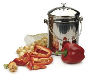 Stainless Steel Compost Pail - Composting Pail