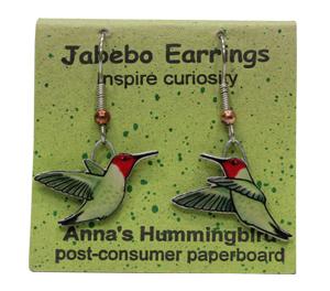Anna's Hummingbird Jabebo Earrings