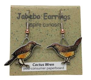 Cactus Wren Jabebo Earrings