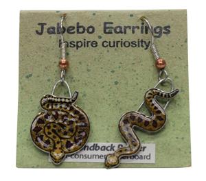 Diamondback Rattlesnake Jabebo Earrings