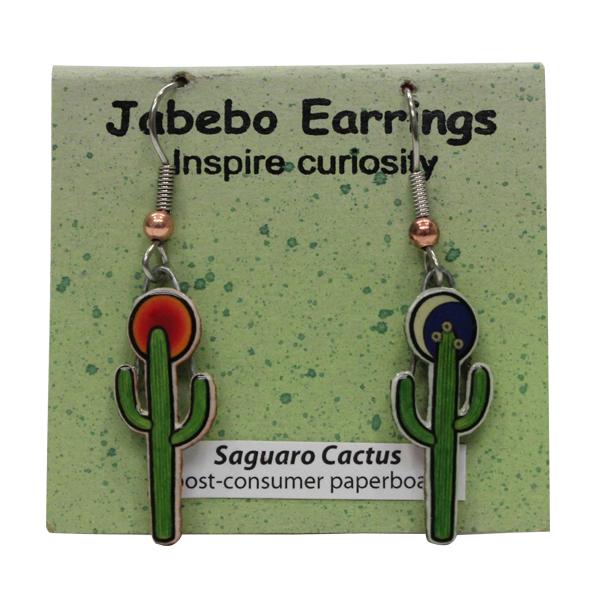 Saguaro Cactus Jabebo Earrings