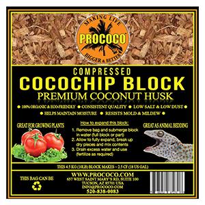 Prococo Compressed CocoChip Block - 10 lbs