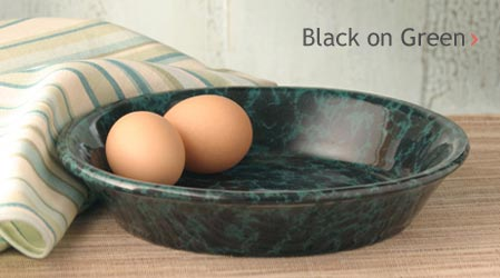 Black on Green Glaze