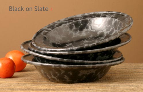 Black on Slate Glazed Pottery