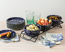 NEW! Three Bowls and Their Rack