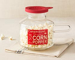 Catamount Glass Microwave Corn Popper