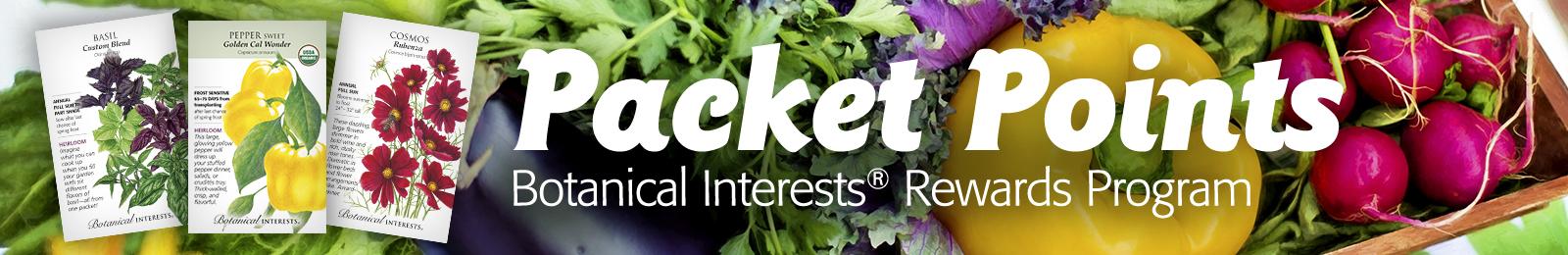 Packet Points - Botanical Interests Rewards Program