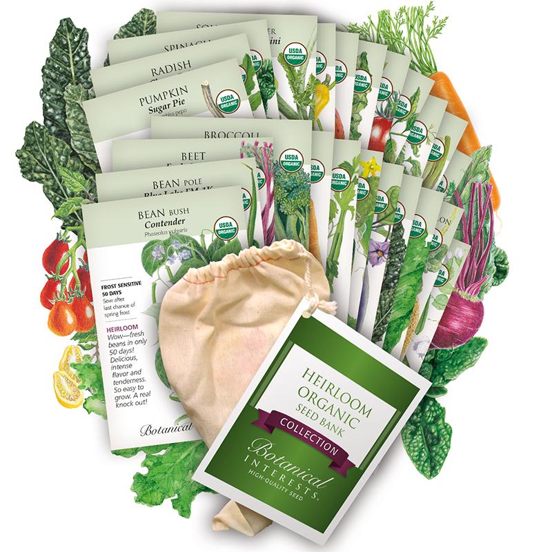 Heirloom Organic Seed Bank Collection