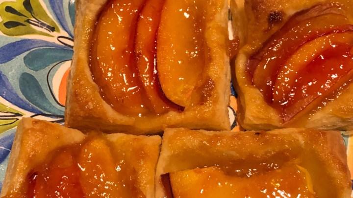 Peach Tartlets with Apricot Glaze