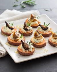 Sweet Potato Toasts with Goat Cheese and Fig