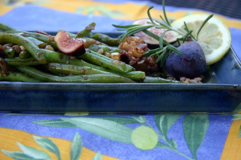 Green Beans with Fig Balsamic Glaze
