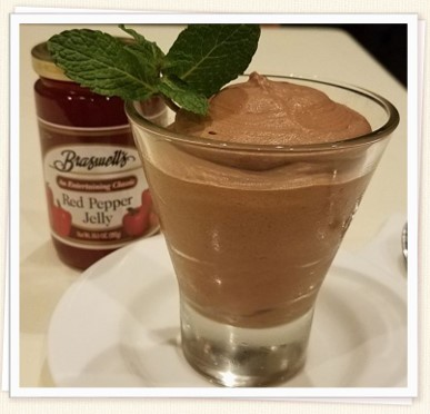 Chocolate Mousse with Red Pepper Jelly