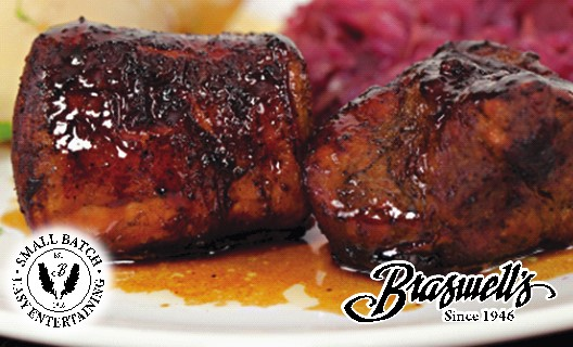 Roasted Pork Loin with Balsamic Onion Reduction Sauce