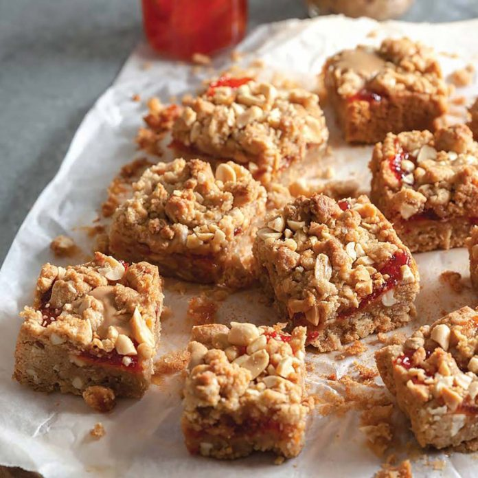 Peanut Butter and Pepper Jelly Bars - Taste of the South