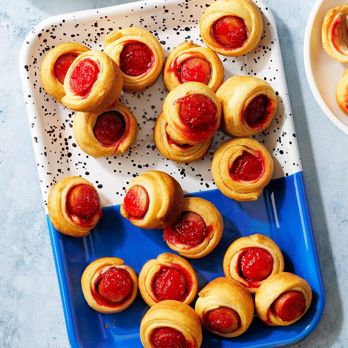 Red Pepper Jelly Hogs in a Blanket