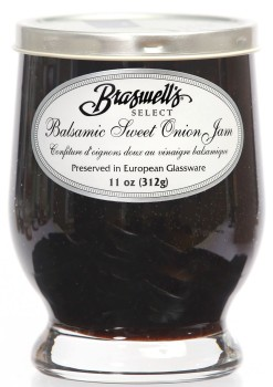 Balsamic Sweet Onion Jam - Footed Glassware