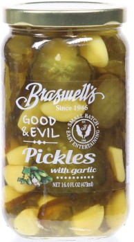Good & Evil Pickles with Garlic