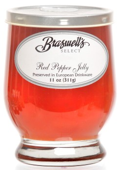Red Pepper Jelly - Footed Glassware
