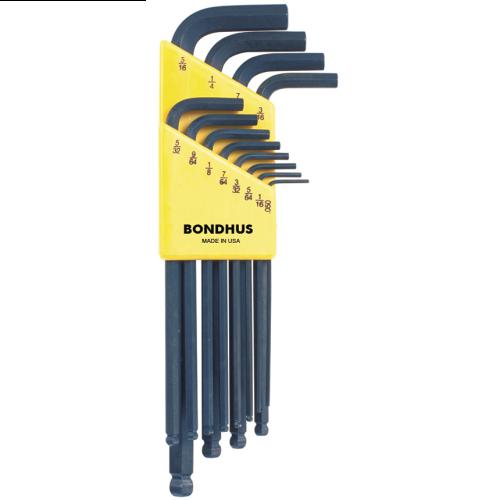 """Bondhus Ball End Hex Key Wrench Set .50""""-5/16"""""""