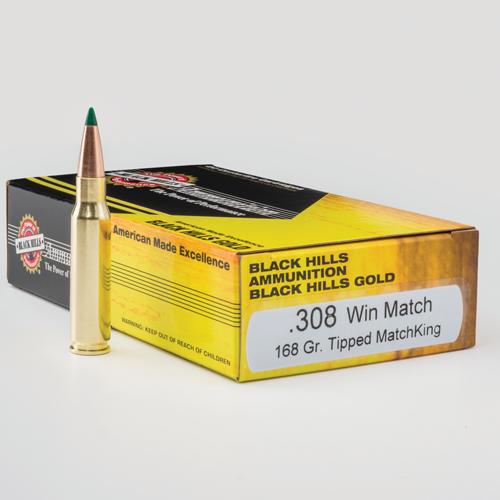 Black Hills Gold .308 168 Gr TMK Ammunition
