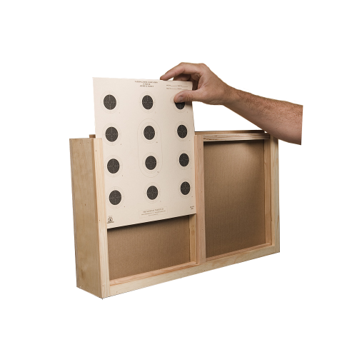 Double Target Box For Air Gun Range With Steel