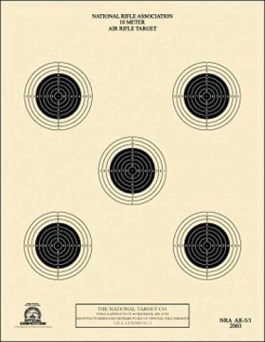 10 Meter Air Rifle Target 5 Bull