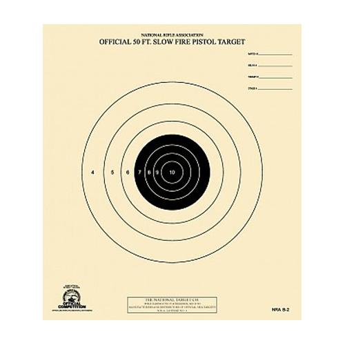 50ft Slow Fire Pistol Target