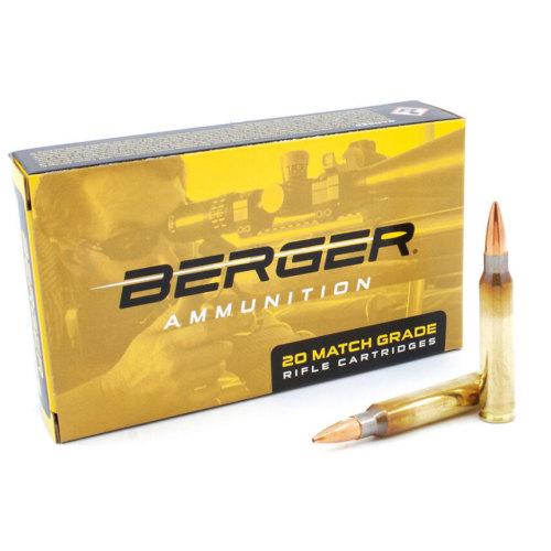 Berger .223 73 Gr Boat Tail Target Ammunition