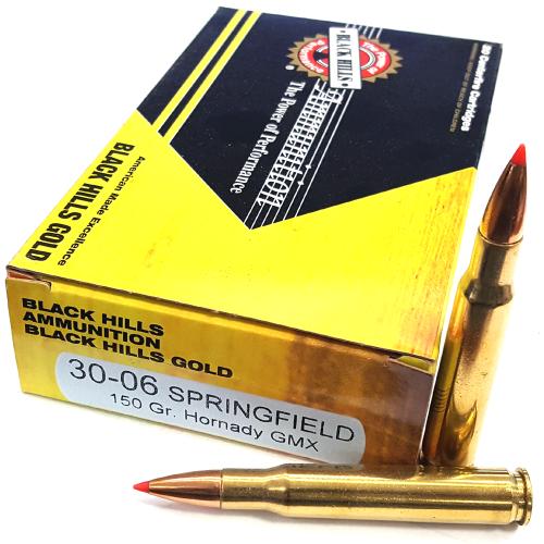 Black Hills Gold .30-06 150 Gr Hornady GMX Ammunition