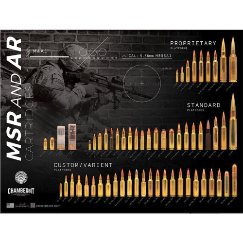 MSR And AR Rifle Cartridge Comparison Guide Poster
