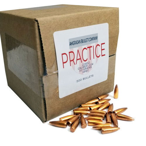American Practice .22 Cal 52 Gr HPBT Bullets (500 ct)