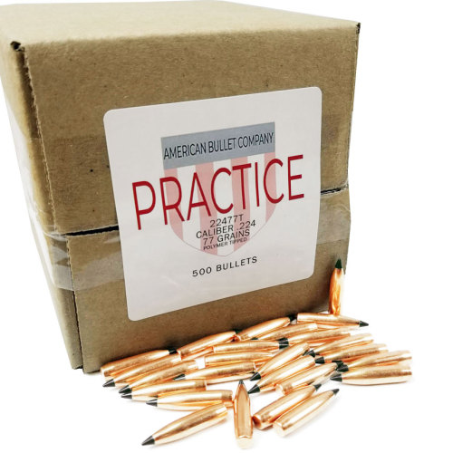 American Practice .22 Cal 77 Gr Tipped Bullets (500 ct)
