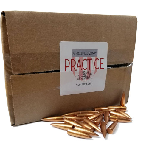 American Practice .30 Cal 125 Gr HP Bullets (500 ct)