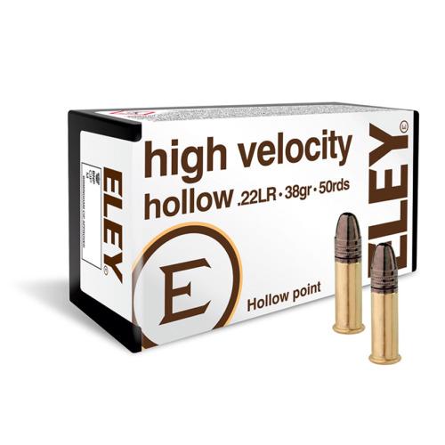 Eley 22 LR High Velocity Hollow Ammo