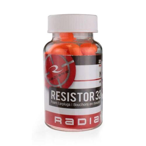 Radians Resistor 32NRR Earplugs Bottle of 25 Pair