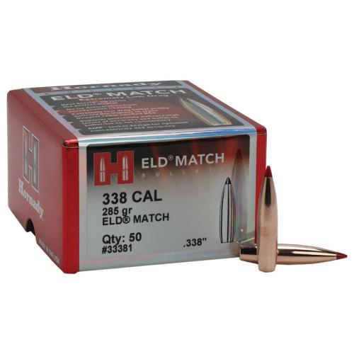 Hornady 338 Cal 285 Gr ELD Match Bullet (50 ct)