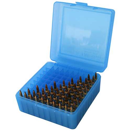 MTM RS-100 Rifle Ammo Box Blue