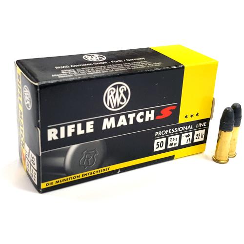 "RWS .22 LR Rifle Match ""S"" Ammunition"