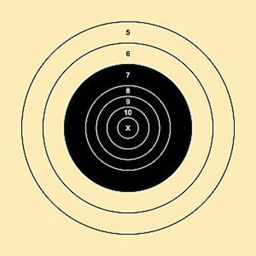 NRA 600 Yd High Power Rifle Target