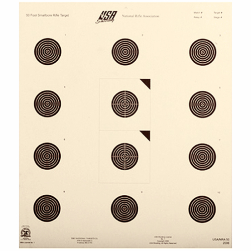 50ft Rifle USA-50 Smallbore Target