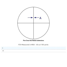 Sightron SIII Competition ED 45x45MM Fine Cross Hair Reticle Scope Crosshair Dimensions