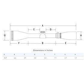 Sightron SIII Long Range 10-50x60 Side Focus MOA-1 Reticle Scope Dimensions