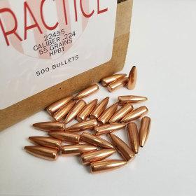 American Practice 22 Cal 55 Gr HPBT Bullets