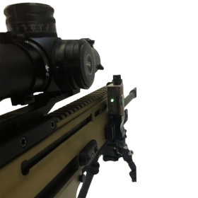 LRA Send iT Electronic Shooting Level with Spirit Level Side Mounted View