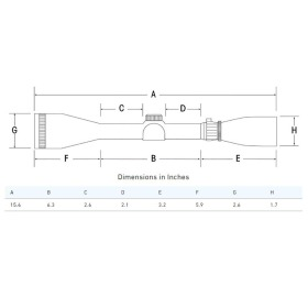 Sightron Scope SIII Long Range Side Focus with Fine Cross Hair Scope Dimensions