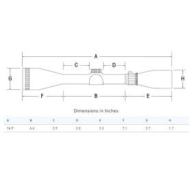 Sightron SIII Long Range 10-50x60 Scope Side Focus Target Dot Scope Dimensions