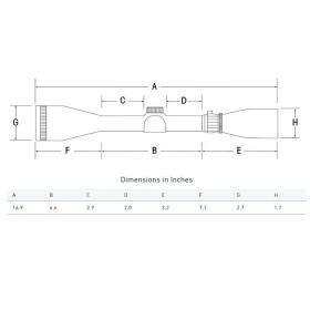 Sightron SIII Long Range 10-50x60 Side Focus Scope Dimensions