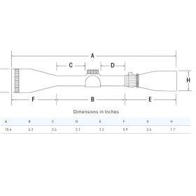 Sightron SIII Long Range 8-32x56 Side Focus Scope Dimensions