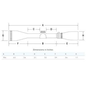 Sightron SIII Long Range 8-32x56 Side Focus MOA-2 Reticle Scope Dimensions